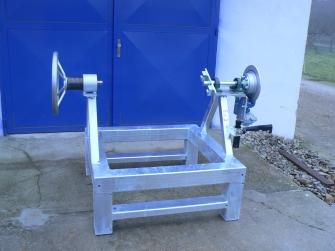 Výrobok pre TIMM SLOVAKIA: odvíjačka lán, brzdená tlakom vzduchu